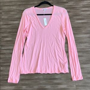 NWT James Perse Standard Pink Cotton Shirt